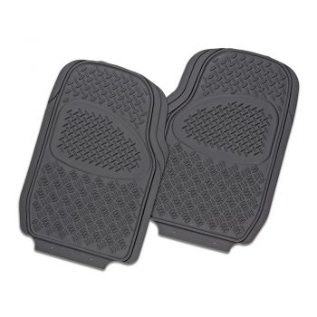 Velocity 2-Piece Car Mat - Grey [Rubber]
