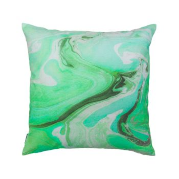 Marble Cushion Filled 50 x 50cm Green