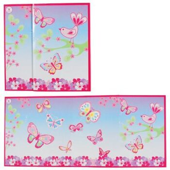 Colourful Spring Butterfly Folded Card - Pack Size 12