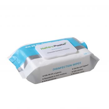 80 Pack Alcohol Anti-Bacterial Wet Wipes - Kills 99.99% of germs