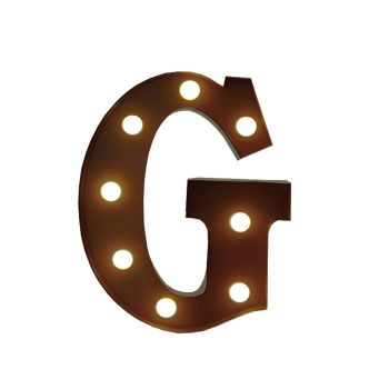 LED Metal Letter Free Standing Hanging Lights Marquee Event Party Decor Letter G