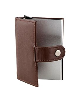 Leather Flip Case with Metal Card Holder