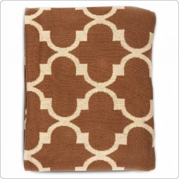 Luxury Cotton Throw 127x154cm Sunset peak brick