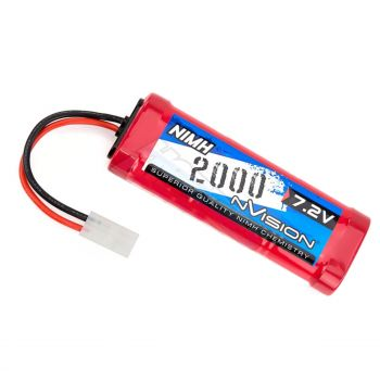 Nvision 7.2v 2000mah RC Hobby Rechargeable Battery with Tamiya Plug