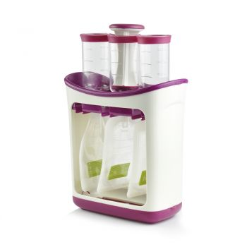Infant Baby Feeding Food Squeeze Station Toddler Fruit Maker Dispenser Storage