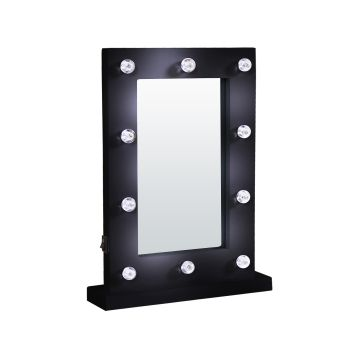 LED Lights Hollywood Vanity Mirror for Makeup in Black