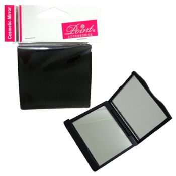 Cosmetic mirror black folded design