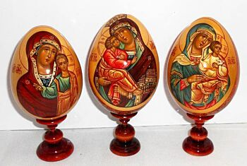Religious Egg  With Stand Large Babushka Russian Nesting Doll (Small)