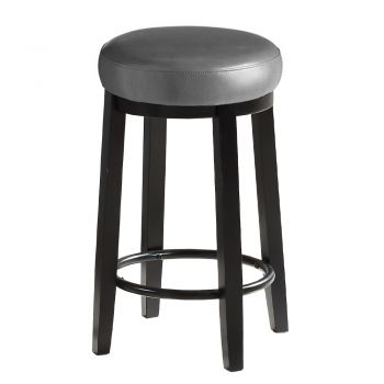 2x Levede 65cms Wooden Kitchen Swivel Bar Stools in Grey Colour