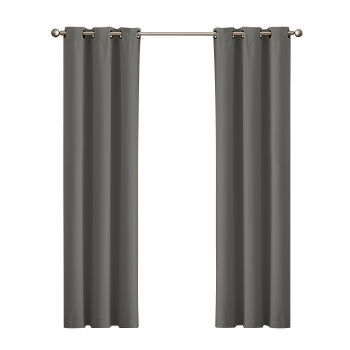 DreamZ Blackout Curtain Eyelet 102x275cm in Charcoal