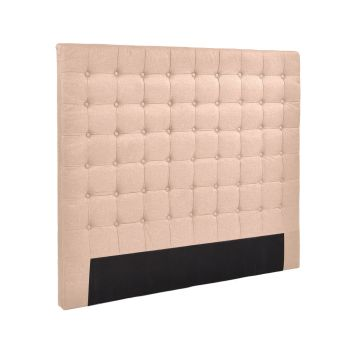 Levede Bed Frame Fabirc Base Bed Headboard in Double in Beige