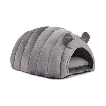 Bedding Large Igloo Castle Round Nest Cat House Cat Bed Medium in Grey