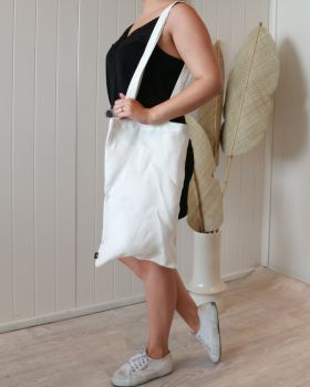 Linen Tote Bag - Small - White -30x50