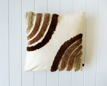 Tufted Cushion - Earth Double Rainbow - 45x45