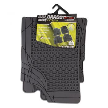 Colorado 4-Piece Car Mat - Grey