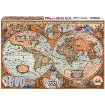 Old World Map 1500 Piece Jigsaw Puzzle   Discover The Old World With This Classic Jigsaw Puzzle.