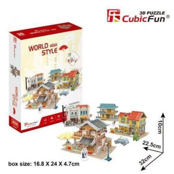3D Puzzle Fun Kids Toys World Style Asia