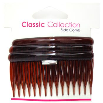 Side comb- brown