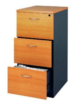 Cooper 3 Drawer Filing Cabinet Assembled Cherry