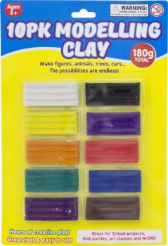 Clay Modelling Assorted 10pk
