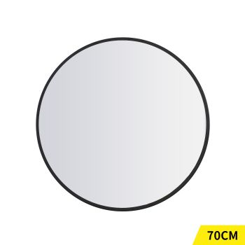 Round Makeup Wall Mounted Mirrors with Smooth Edge 70cm