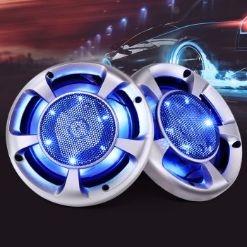Giantz Set of 2 MaxTurbo 6.5Inch Car Speakers LED Light 500W 3WAY Audio Component
