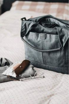 Tote Slouch Nappy Bag - Denim Grey