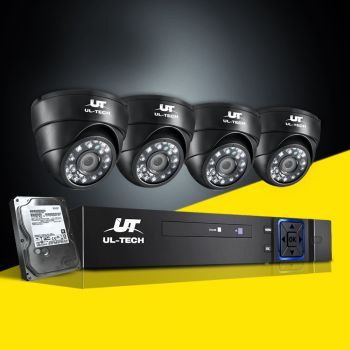 ULtech CCTV Camera Security System 8CH DVR 1080P Outdoor Cameras 1TB Hard Drive