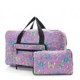 Ecoc Chic Lilac Butterfly Holdall Bag