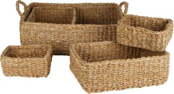 LENNOX SET OF 5 TRAY BASKETS 50 X 40 X 15CM
