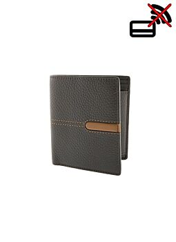 Pebble Grain Leather Wallet with RFID Blocking Technology