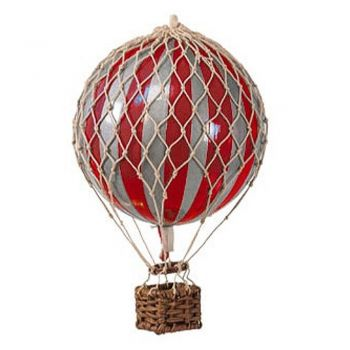 Authentic Models Royal Aero Hot Air Balloon Model - Red/Silver