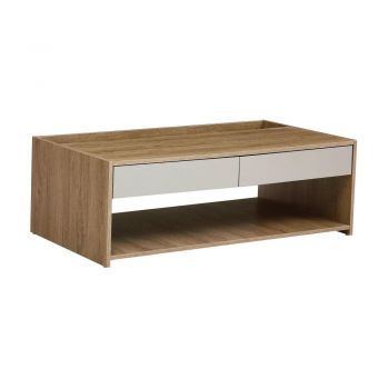 Van Goh Industrial Coffee Table - Natural / Cement Grey