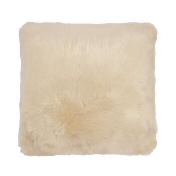 Faux Fur Cushion 50x50cm Nougat