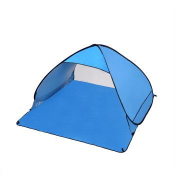Mountview Pop Up Portable 2 Person Beach Tent in Blue Colour