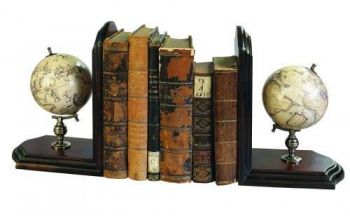 Globe Bookends Celestial and Terrestrial - French Finish