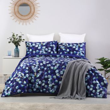 Dreamaker velvet digital printing pinsonic quilted Quilt Cover Set King Bed Pagan