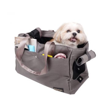 Ibiyaya Canvas Pet Carrier Tote for Cats & Dogs - Grey