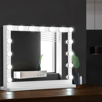 Embellir Makeup Mirror With Light Hollywood 15 LED Bulbs Vanity Lighted Stand