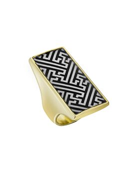 Florence Broadhurst Accessories Chinese Key And Pagoda Women's Gold Plated Finger Ring