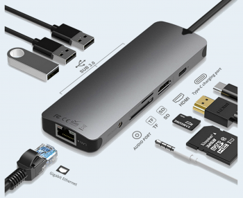 NexGen Ultimate 9-in-1 USB C Hub Adapter