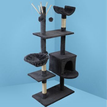 i.Pet Cat Tree Trees Scratching Post Scratcher Tower Condo House Furniture Wood 140cm