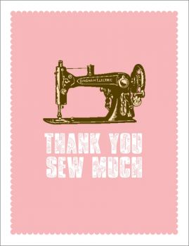 Card-Thank You Sew Much