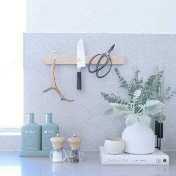 Wooden Magnetic Wall Mounted Knife Holder -40cm