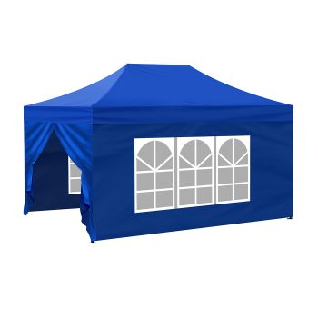 Mountview Pop Up Gazebo Outdoor Canopy 3x4.5M in Blue Colour