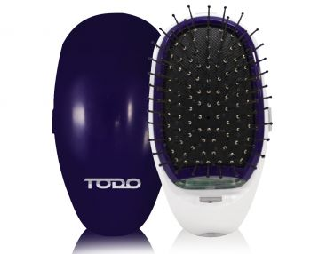 Ionic Styling Hair Brush Health Smooth Silky Hair Stainless Steel Bristle Comb Purple