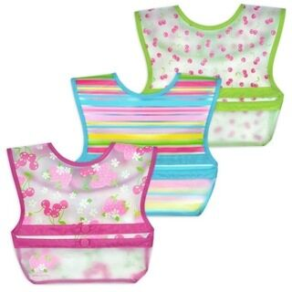 Snap & Go™ Wipe-off Bib (3 pack) 9-18mo - Pink Berries