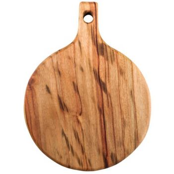 Wooden Anti-Bacterial Eco-Friendly Camphor Laurel Pizza Board (300 Dia x 30mm)