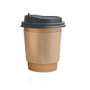 Disposable Takeaway Coffee Cups With Lids 100pcs 12oz
