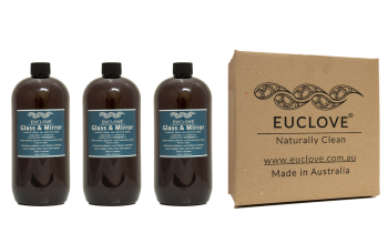 Euclove Glass & Mirror Cleaner 1 litre refill Carton of 3 pieces